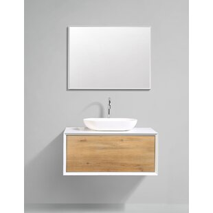 Grissett 35 inch  Wall-Mounted Single Bathroom Vanity Set