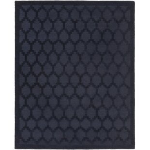 Bracey Hand-Loomed Navy Area Rug byWrought Studio