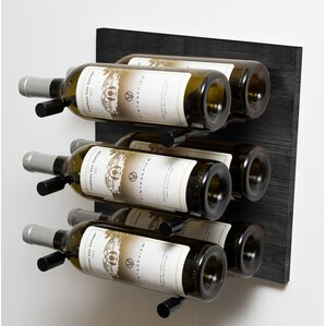 Black 6 Bottle Wall Mounted Wine Rack by VintageView