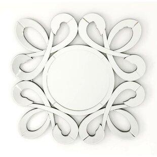 Fab Glass and Mirror Fiori Stylish Frame Round Decorative Wall Mirror