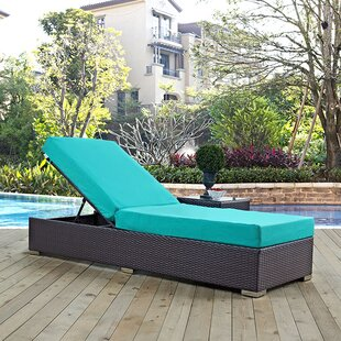 Brentwood Contemporary Chaise Lounge with Cushion