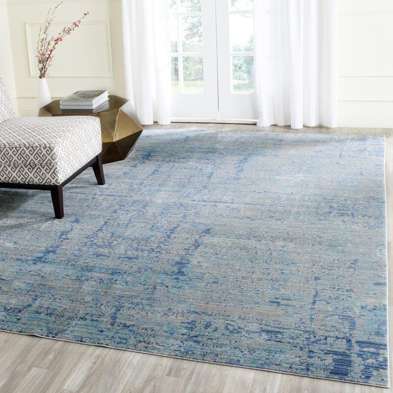 safavieh abella light blue area rug & reviews | wayfair.co.uk