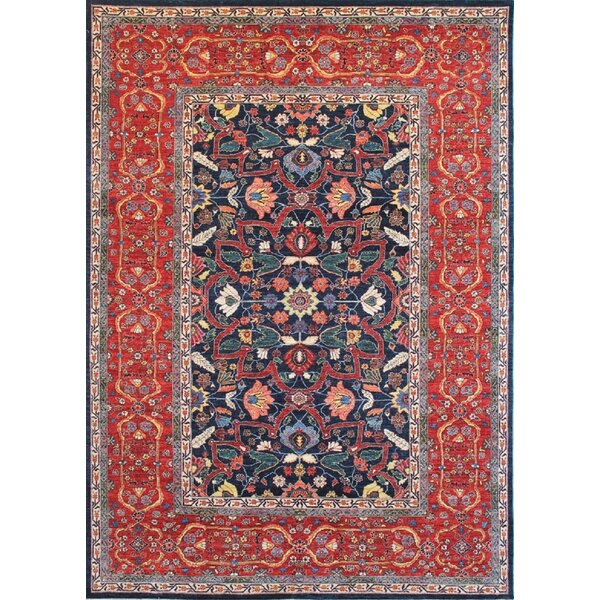 Bokara Rug Co Inc Aryana Oriental Hand Knotted Wool Blue Red Area Rug Perigold