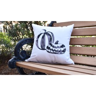 Maser Pumpkin Duo Halloween Outdoor Throw Pillow