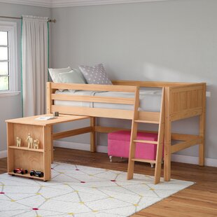 Oakwood Twin Low Loft Bed by Mack & Milo