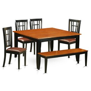 August Grove Pilning 6 Piece Extendable Dining Set