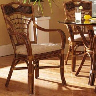 Bay Isle Home Dews Upholstered Queen Anne Back Arm Chair In Brown Wayfair