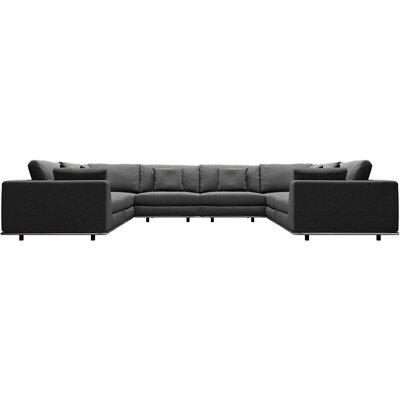Orren Ellis Syd U Sectional Upholstery: Shadow Gray