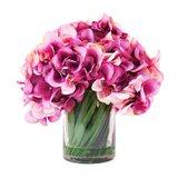 Hydrangea in Acrylic Water Vase