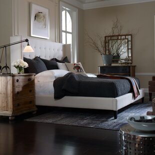 Buy clear Jefferson Upholstered Platform Bed by Design Tree Home Reviews (2019) & Buyer's Guide