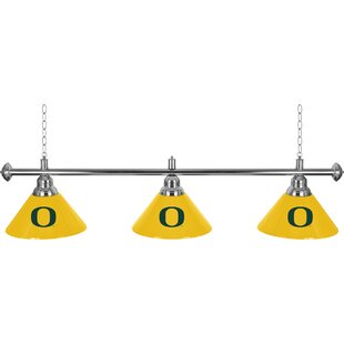 Trademark Global University of Oregon 3-Light Pool Table Lights Pendant