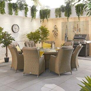 Radegunda 8 Seater Dining Set With Cushions Image