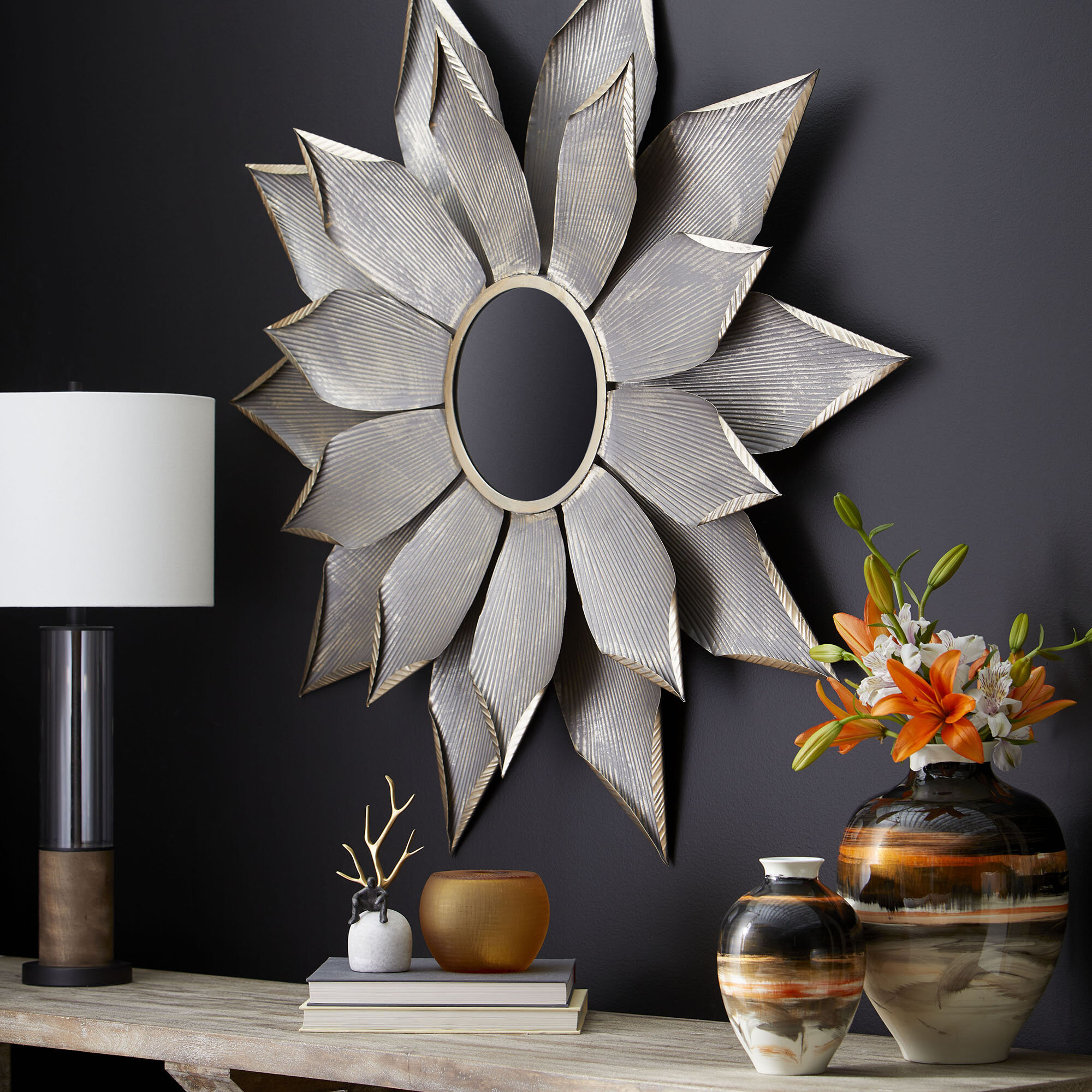Cyan Design Blossom Traditional Beveled Accent Mirror Reviews Wayfair