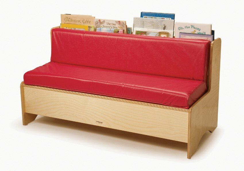 Comfy Reading Center Kids Sofa With Storage Compartment