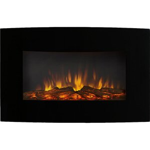 Callaway Black Wall Mount Electric Fireplace by Varick Gallery