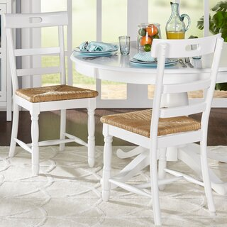 Alburg Solid Wood Dining Chair (Set of 2) by Beachcrest Home SKU:EA299219 Price Compare