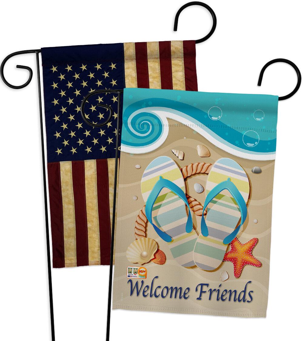 Breeze Decor Sunny Friends Impressions Decorative 2 Sided Polyester 19 X 13 In Garden Flag Wayfair