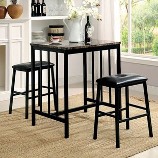 Parton 3 Piece Pub Table Set (Set of 3) Winston Porter