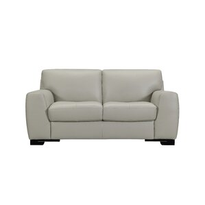 Dean Leather Loveseat by Sofas to Go