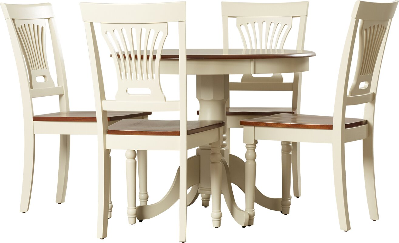 darby home co wyatt 5 piece dining set & reviews | wayfair