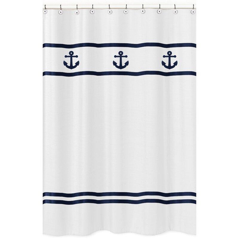 Anchors Away Shower Curtain from Wayfair!