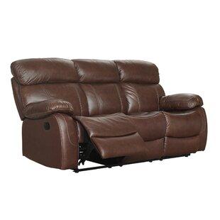 Lahti Leather Reclining Sofa by Red Barrel Studio