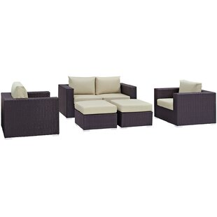 Brentwood 5 Piece Rattan Sofa Set with Cushions