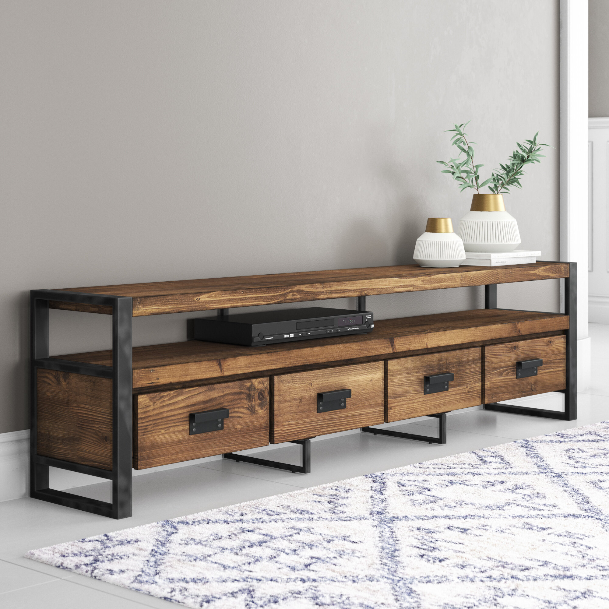 Boxwell Solid Wood Tv Stand For Tvs Up To 88 Inches Reviews Joss Main