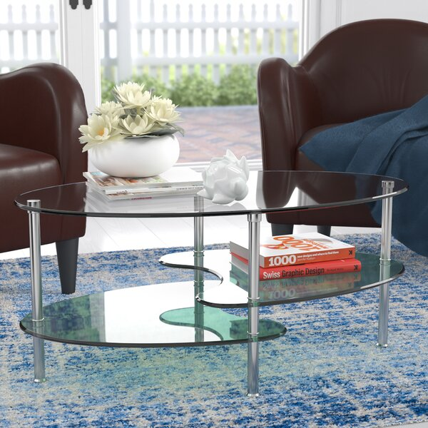 Wrought Studio Hefner Two Tier Coffee Table Reviews Wayfair - Two level coffee table