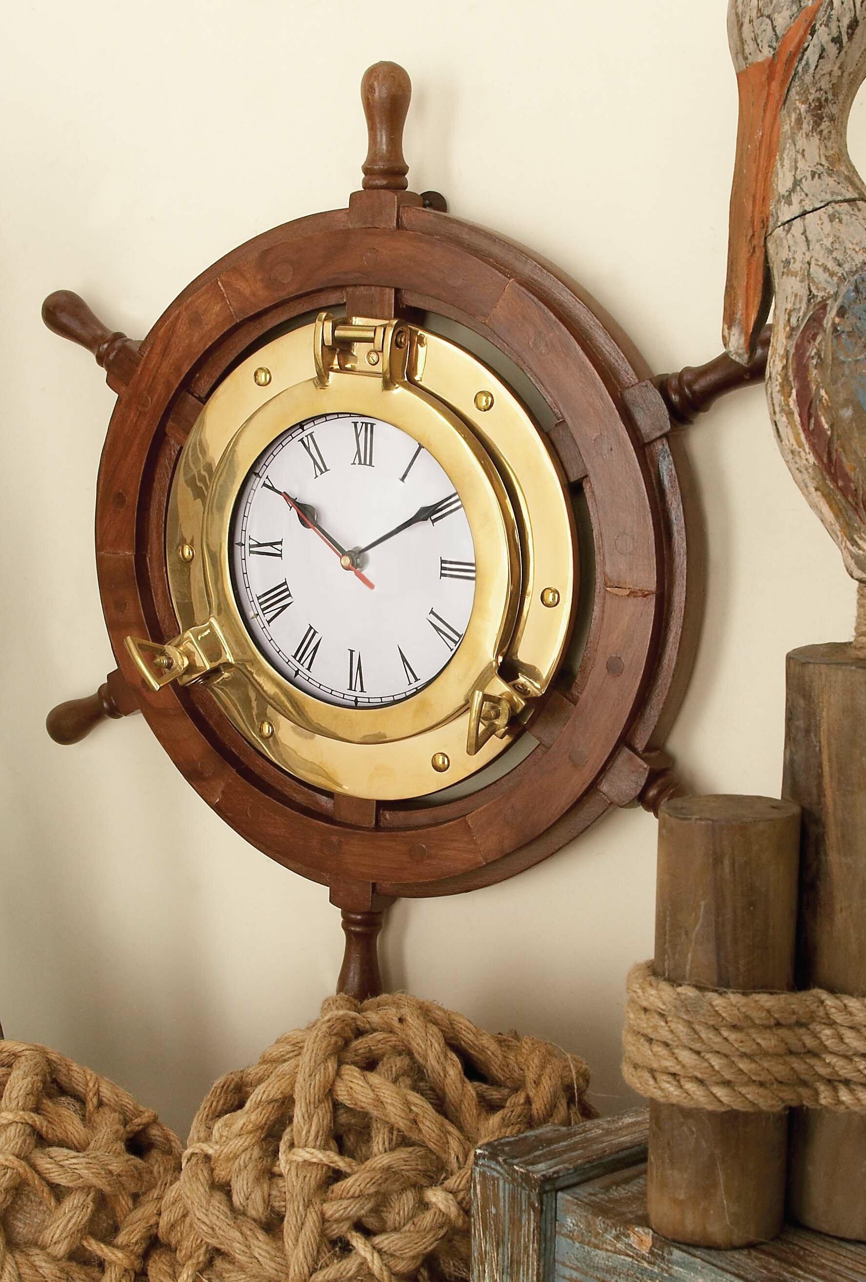 Riley Ship Wheel 18 Wall Clock