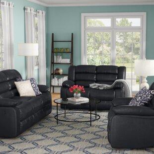 Red Barrel Studio Hamlin Reclining 3 Piece Living Room Set