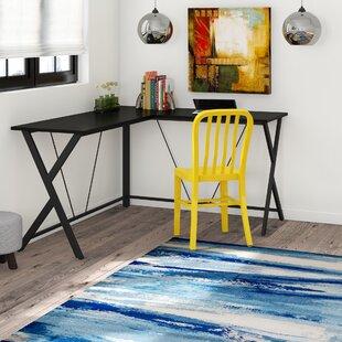 Eveland Open Top CornerWriting Desk by Rebrilliant