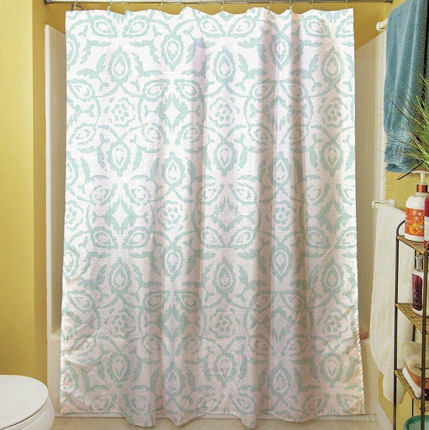Manual Woodworkers Weavers Flowing Damask Ii Single Shower Curtain Wayfair