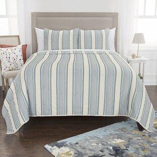 Egerton 100% Cotton Reversible Quilt Set