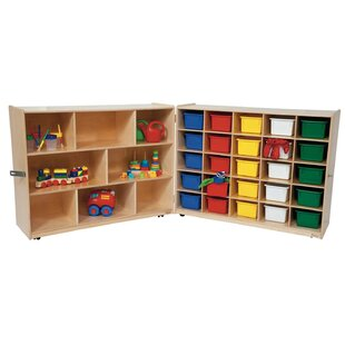 Great Price Folding 25 Compartment Shelving Unit with Trays By Wood Designs