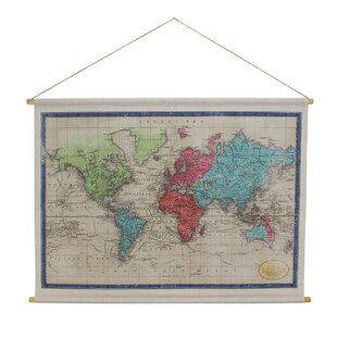 a9734b3af6 World Map Hanging Linen Tapestry