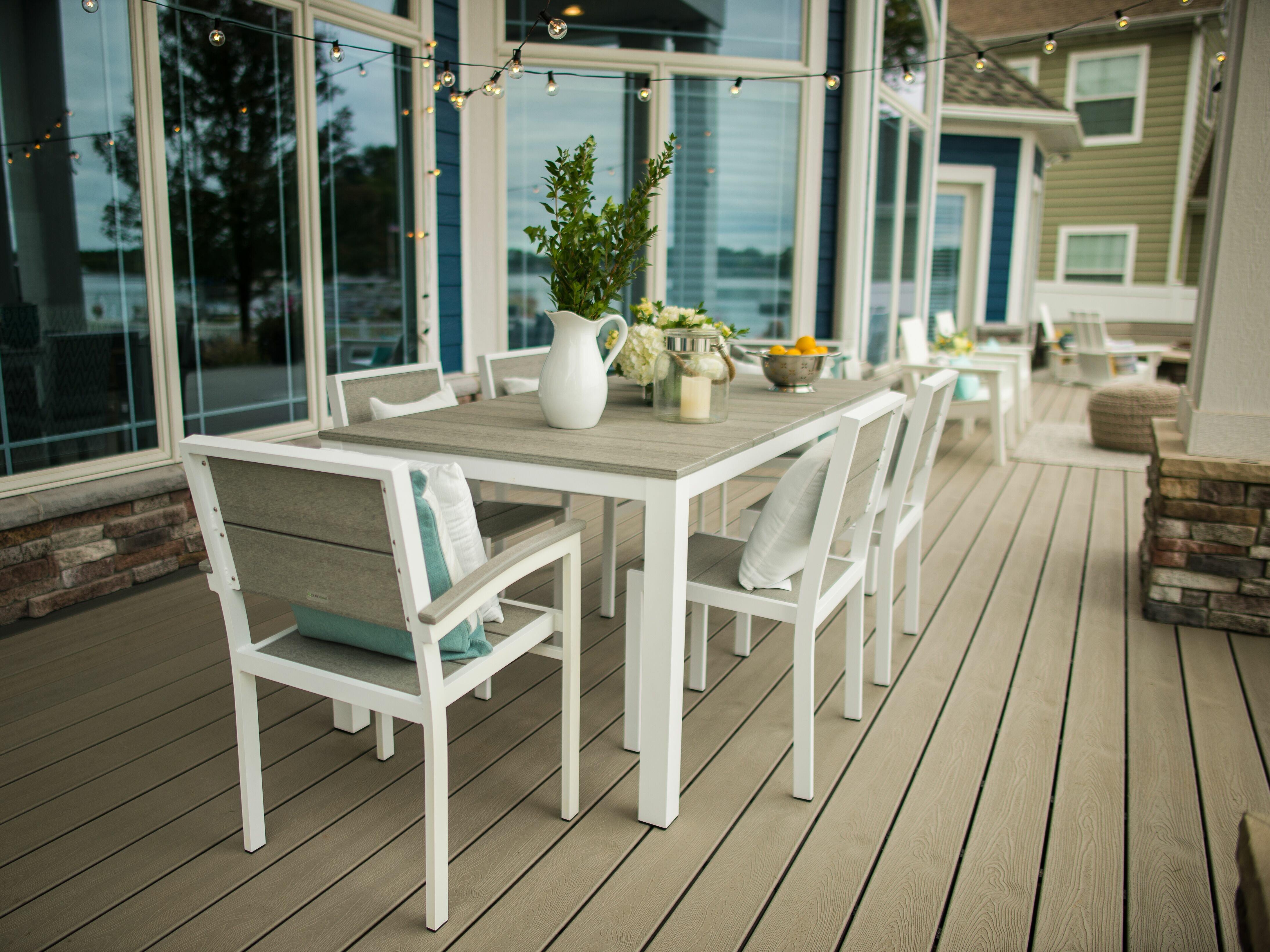 Modern rustic interiors gavin outdoor 7 piece dining set - Outdoor interiors 7 piece patio set ...