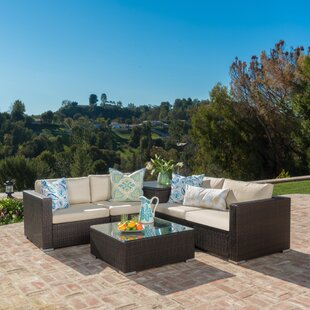 Benbow 6 Piece Rattan Seating Group with Cushions