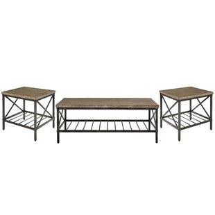 Williston Forge Metrodora 3 Piece Coffee Table Set