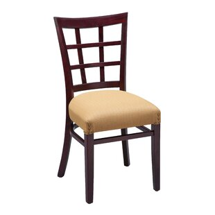 Amoroso Beechwood Lattice Back Seat Upholstered Dining Chair Red Barrel Studio