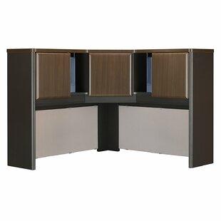Bush Business Furniture Series A L-Shape Executive Desk with Hutch