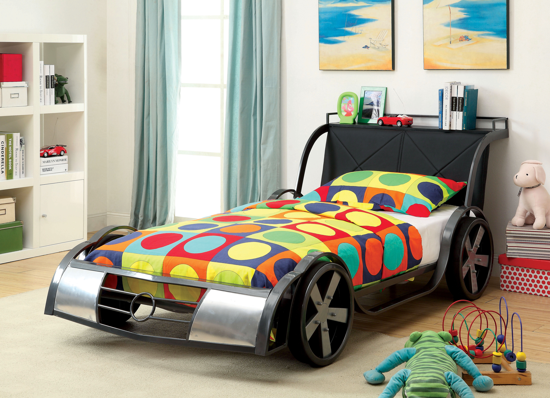 Hokku Designs Sporty Racer Twin Car Bed Reviews Wayfair