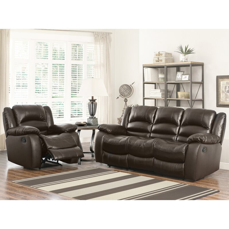 Jorgensen Leather Reclining Sofa