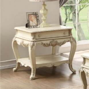 Studebaker Wooden End Table with Storage by Astoria Grand