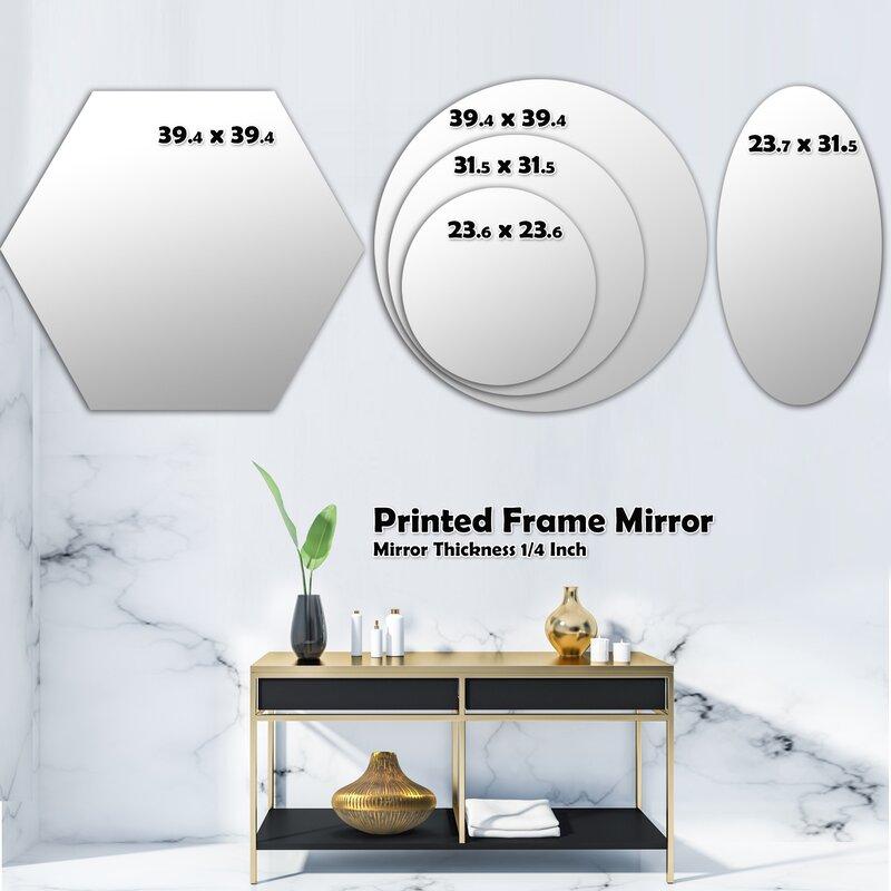 East Urban Home Whirl Abstract Geometrical Design Ix Modern Frameless Wall Mirror Wayfair