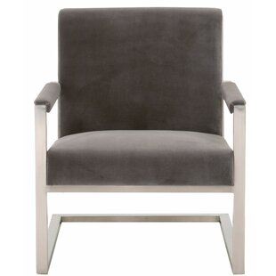 Duckett Metal Framed Club Chair by Everly Quinn