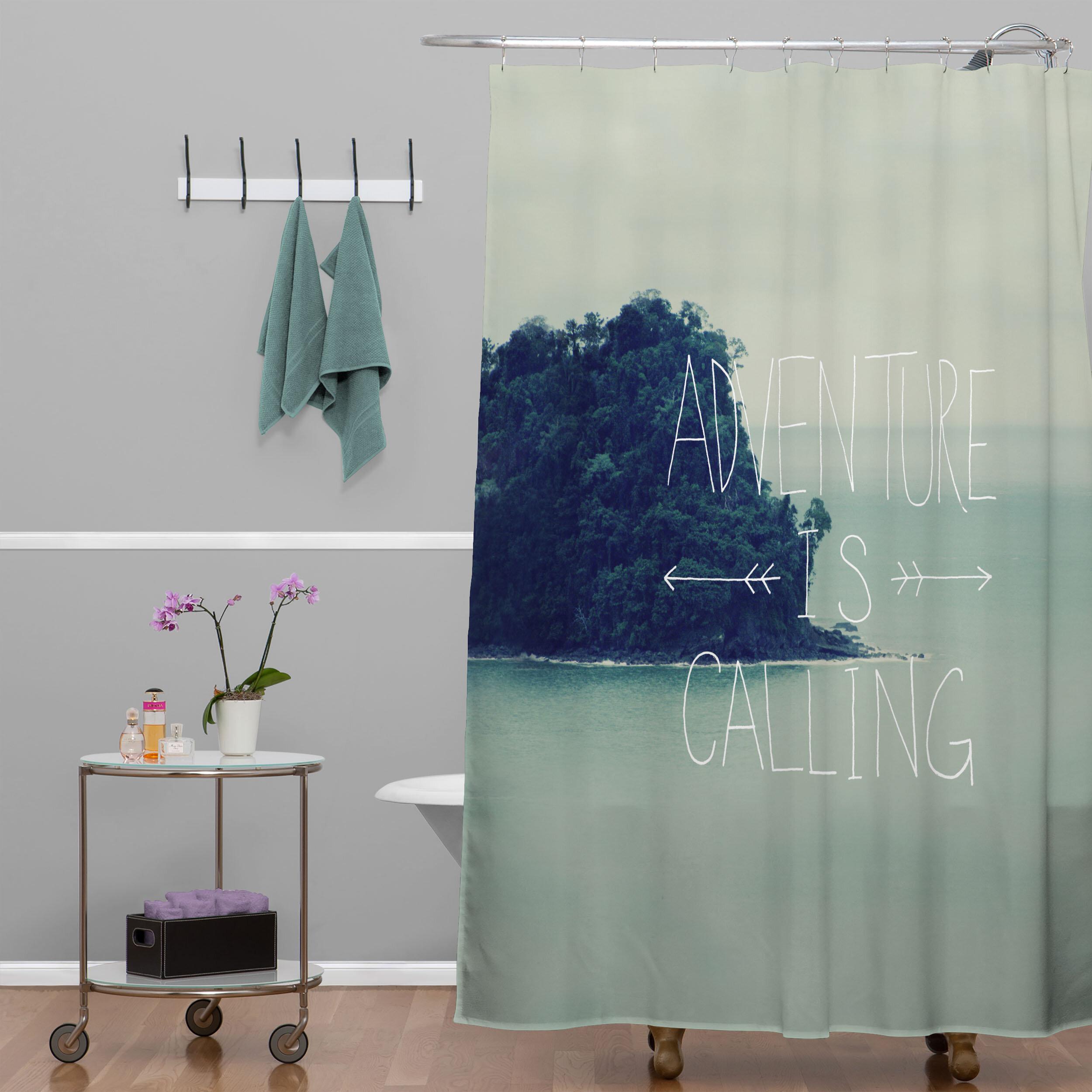Brayden Studio Greear Adventure Island Shower Curtain