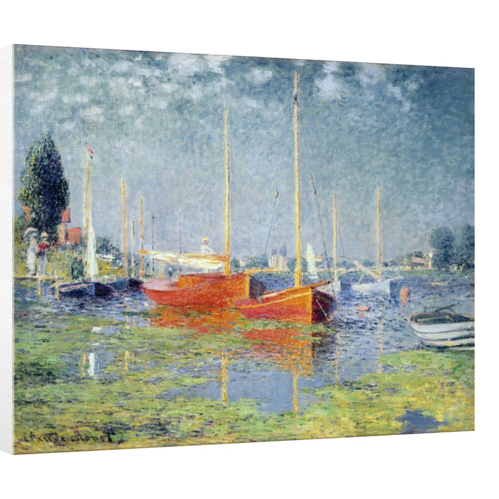 East Urban Home Argenteuil 1875 By Claude Monet Picture Frame Art Print On Canvas Wayfair Co Uk