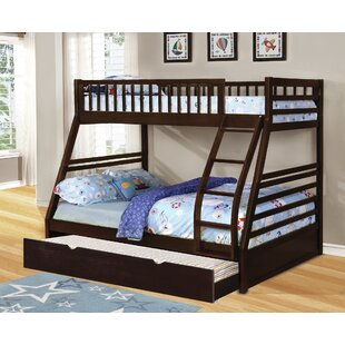 Bangs Twin Over Full Bunk Bed With Trundle by Harriet Bee Modern
