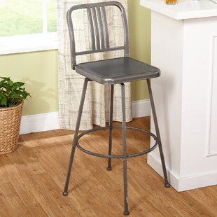 Ohanko Adjustable Height Swivel Bar Stool